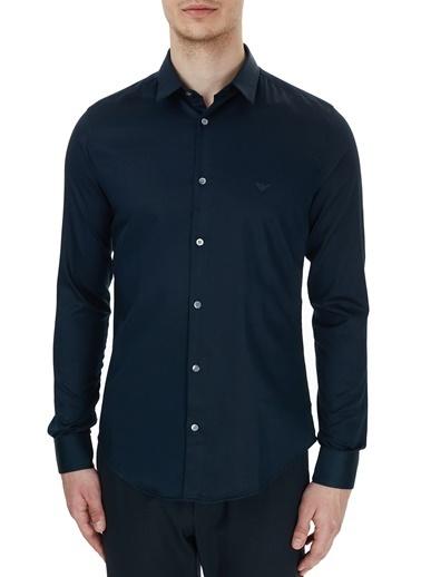 Emporio Armani  Slim Fit Düz Yaka Pamuklu Gömlek Erkek Gömlek S 6H1C09 1Nb0Z 0920 Lacivert